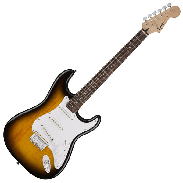 Squier 0371001532 Bullet Stratocaster Hard Tail Electric Guitar in Brown Sunburst