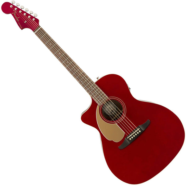 Fender 0970748009 Newporter Player Left Handed Acoustic Electric in Candy Apple Red