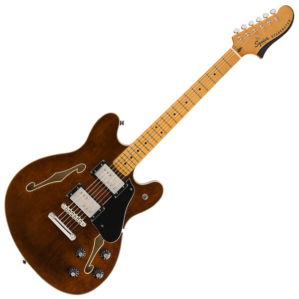 Squier Classic Vibe Starcaster Semi Hollow Body Electric Guitar Maple in Walnut - 0374590592