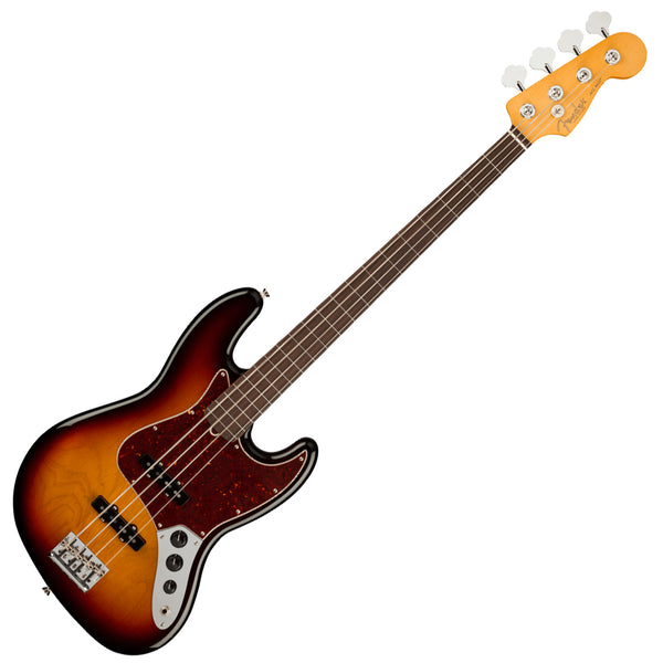 Fender American Professional II Fretless Jazz Bass Guitar Rosewood 3 Colour Sunburst with w/Case - 0194000700