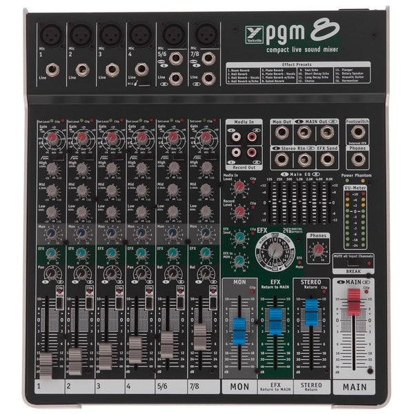 Yorkville PGM8 8 Channel Non Powered Mixer