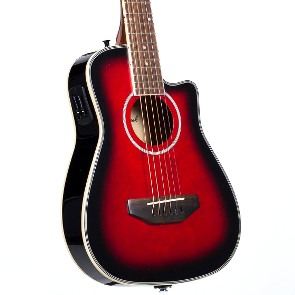 Beaver Creek BCRB501CETR Travel Cutaway Acoustic Electric in Transparent Red