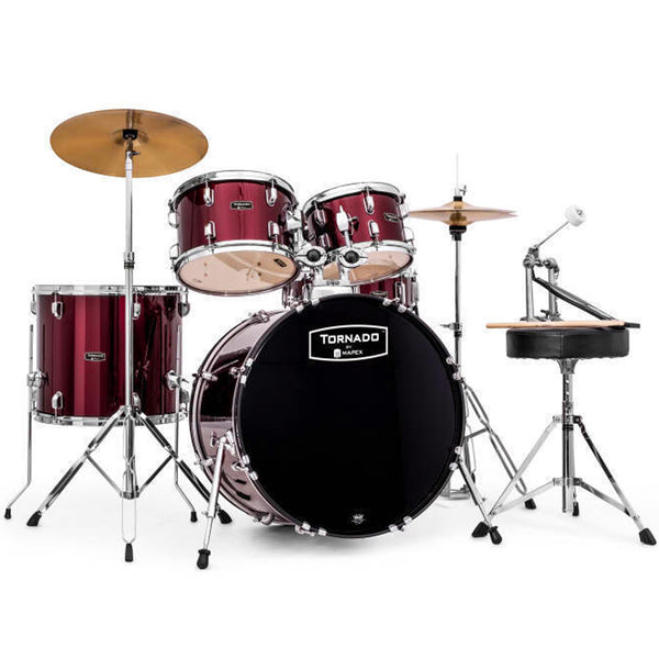 Mapex TND5294TCDR Tornado 5 Piece Rock Kit in Burgundy
