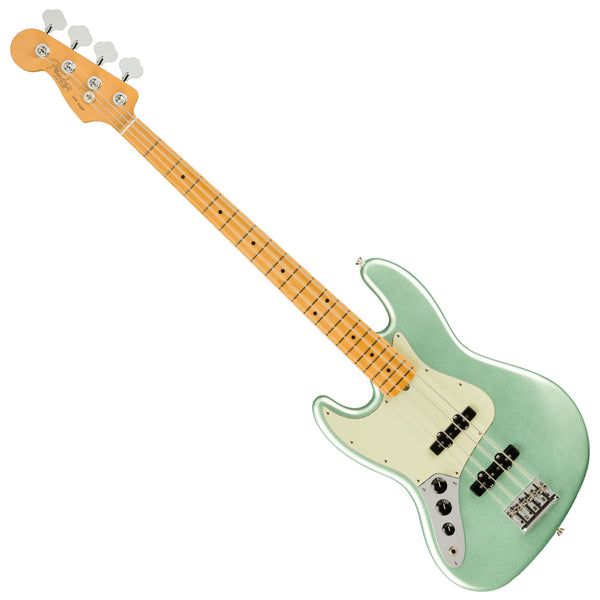 Fender Left Hand American Professional II P Bass Maple Mystic Surf Green Bass Guitar w/Case - 0193942718