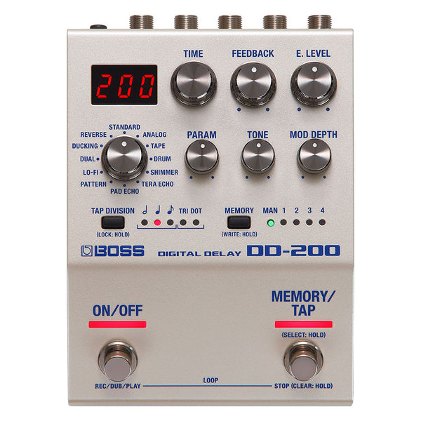 Boss DD200 Digital Delay and Looper Effects Pedal
