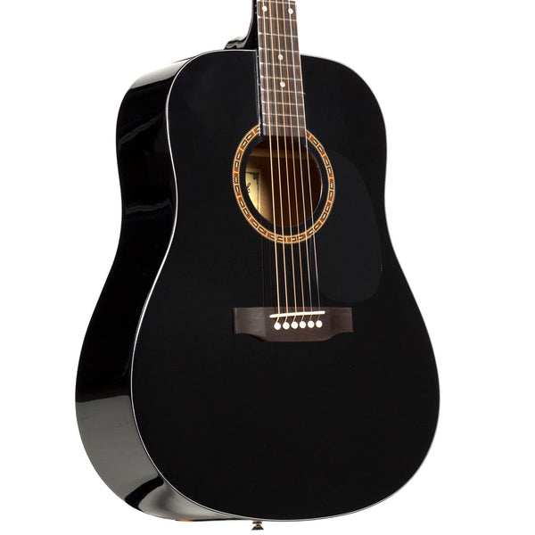 Beaver Creek BCTD101BK Dreadnought Acoustic Guitar in Black