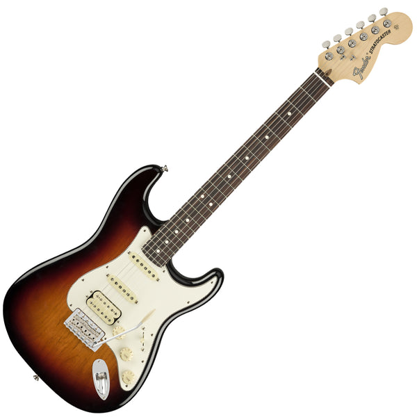 Fender 0114920300 American Performer HSS Stratocaster Electric Guitar Rosewood in 3 Tone Sunburst w/Bag