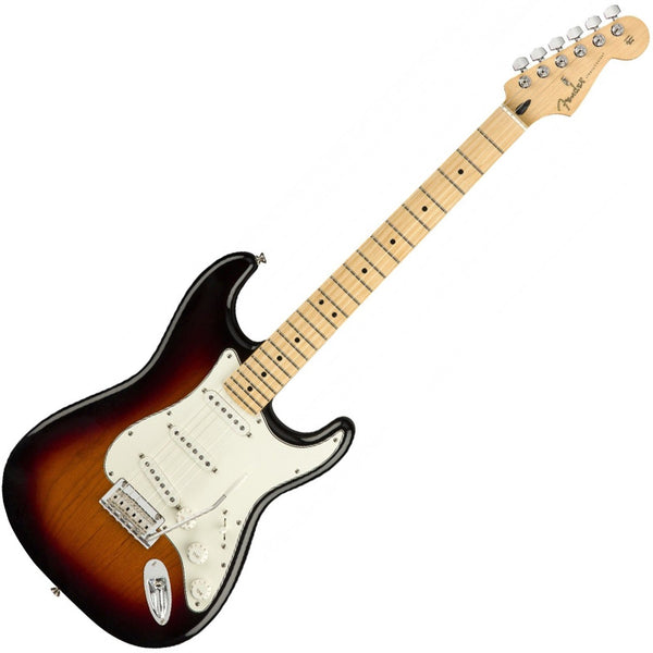 Fender 0144502500 Player Stratocaster Electric Guitar Maple Neck in 3 Tone Sunburst