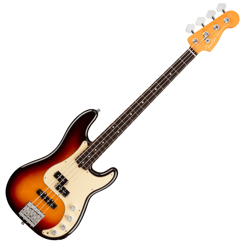 Fender American Ultra Precision Bass Guitar Rosewood in Ultraburst with Case - 199010712