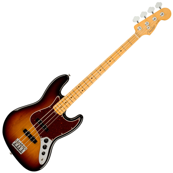 Fender American Professional II Jazz Bass Guitar Maple 3 Colour Sunburst w/Case - 0193972700