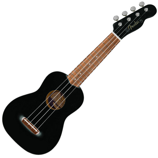 Fender 971610706 Venice Soprano Ukulele in Black