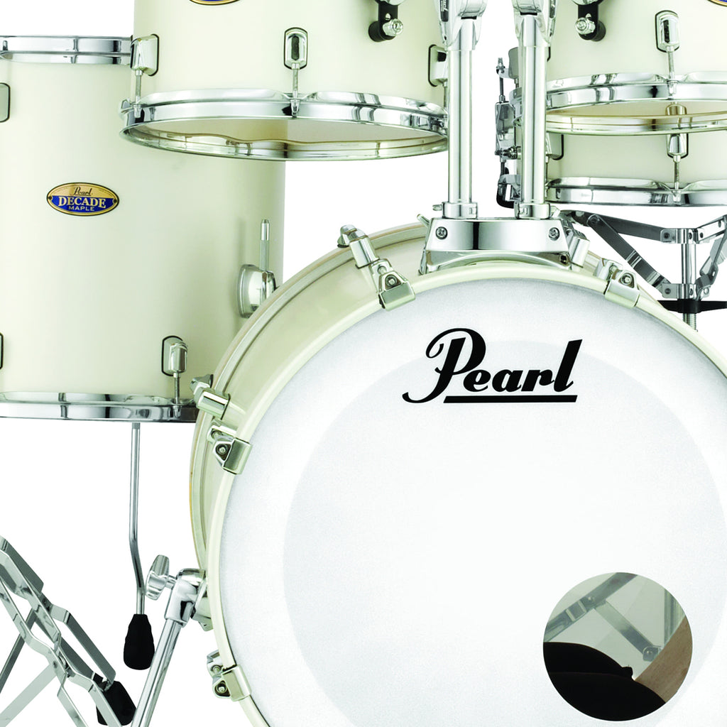 Pearl DMP943XPC229 Decade Maple 3 Piece Shell Pack in White Satin Pearl