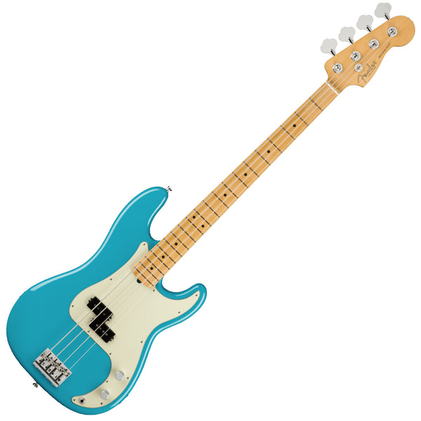Fender American Professional II P Bass Maple Miami Blue Bass Guitar w/Case - 0193932719