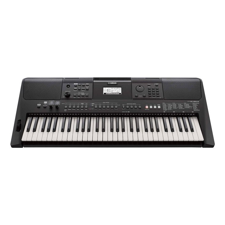 Yamaha PSRE463 61 Key Portable Keyboard Touch Sensitive with Power Supply