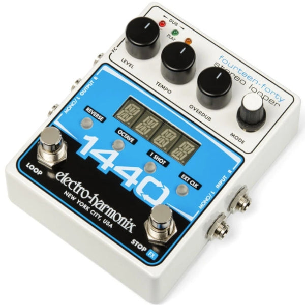 ElectroHarmonix Looper Effects Pedal-20 Loops & 24 Mins Recording Time, Effects Pedal w/Power Supply - 1440STEREOLOOP
