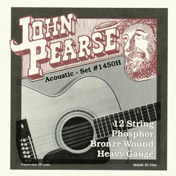 John Pearse 1450H 12 String Acoustic Strings - Guitar Phosphor Bronze Wound