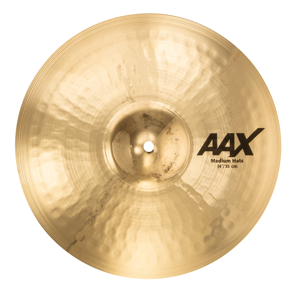 "Sabian 14"" AAX Medium Hi-Hats Cymbals Brilliant Finish - 21402XCB"