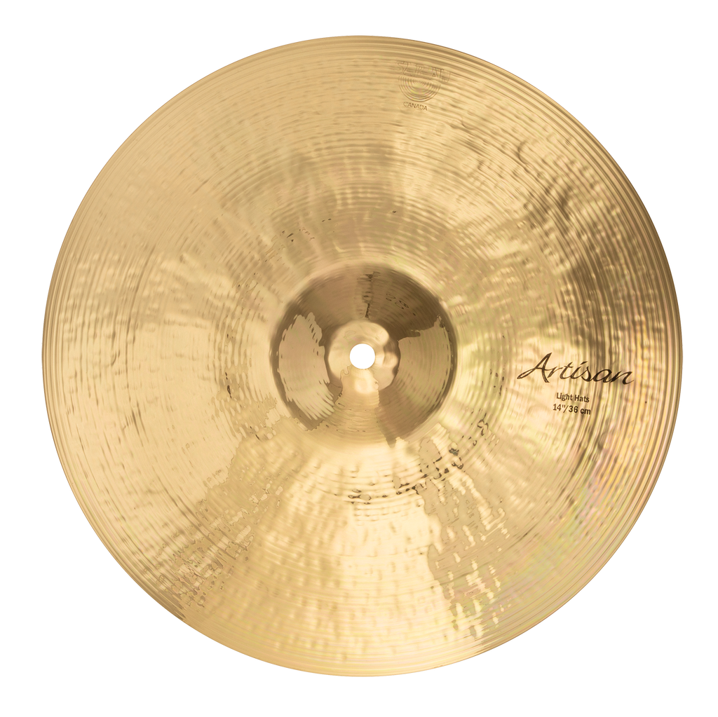 "Sabian 14"" Artisan Light Hi-Hats Cymbals Brilliant Finish - A1401B"