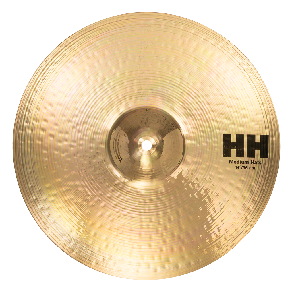 "Sabian 14"" HH Medium Hi-Hats Cymbals Brilliant Finish - 11402B"