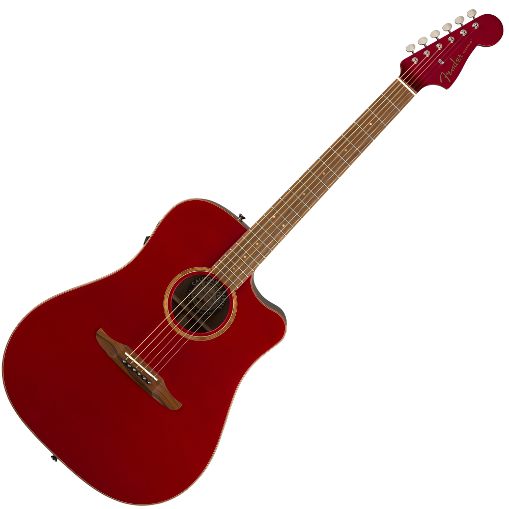Fender 0970913215 Redondo Classic Acoustic Electric in Hot Rod Red Metallic