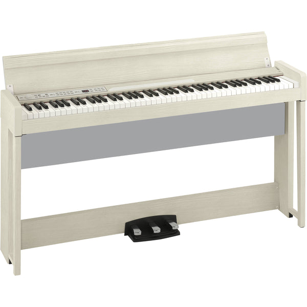 Korg C1AIRWA 88-key RH3 Concert Digital Piano w/Bluetooth Audio Playing, in White Ash,Bench Inclded