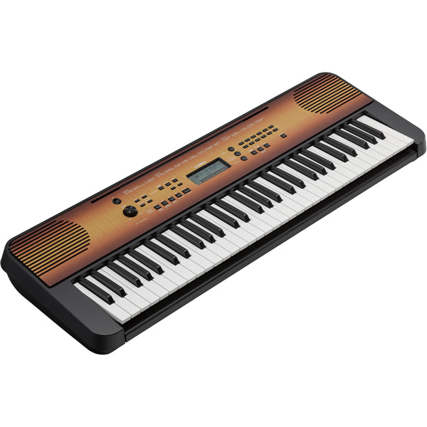 Yamaha 61 Note Portable Keyboard in Maple - PSRE360MA