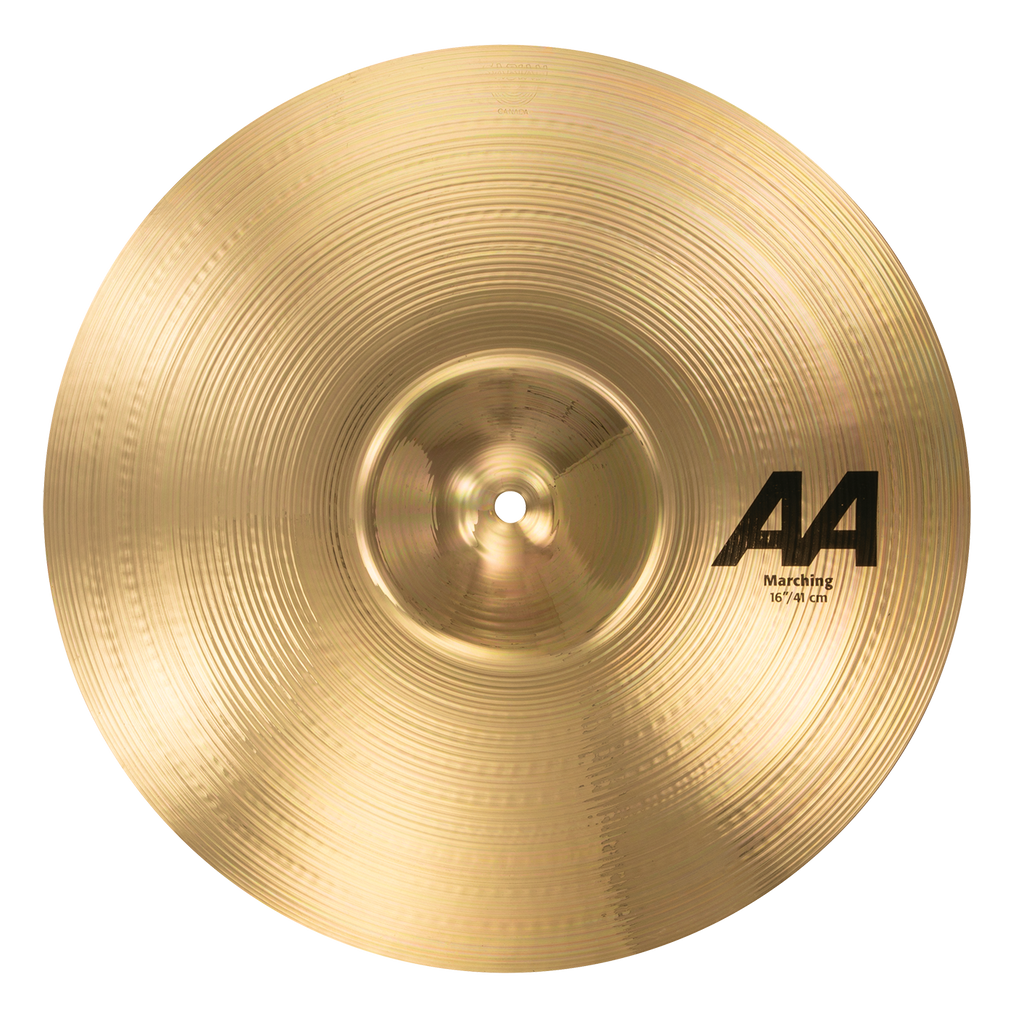 "Sabian 16"" AA Marching Cymbal Brilliant Finish - 21622B"