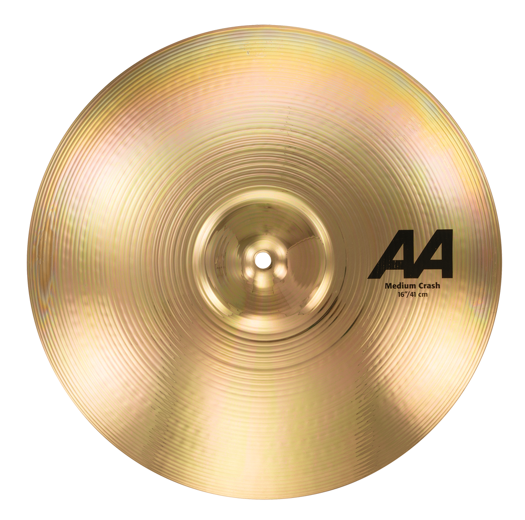 "Sabian 16"" AA Medium Crash Cymbal Brilliant Finish - 21608B"