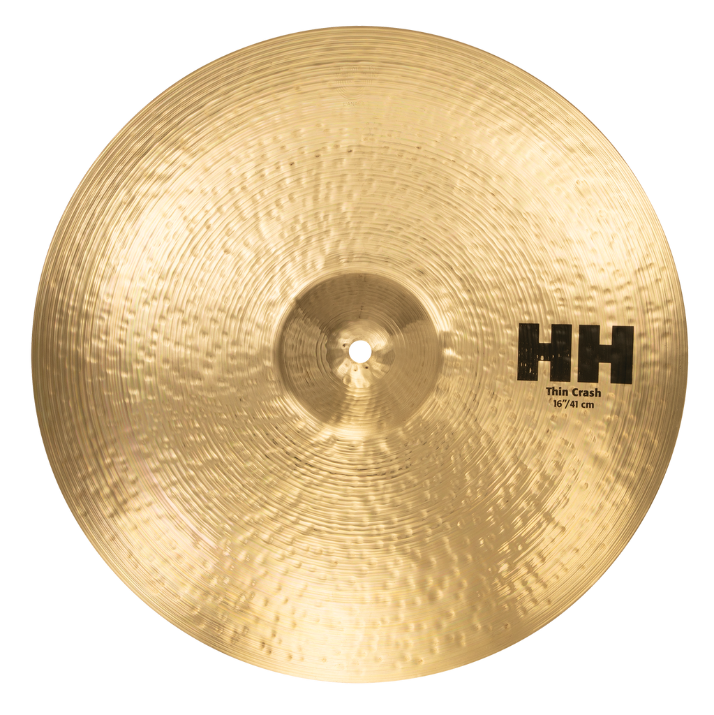 "Sabian 16"" HH Thin Crash Cymbal Brilliant Finish - 11606B"