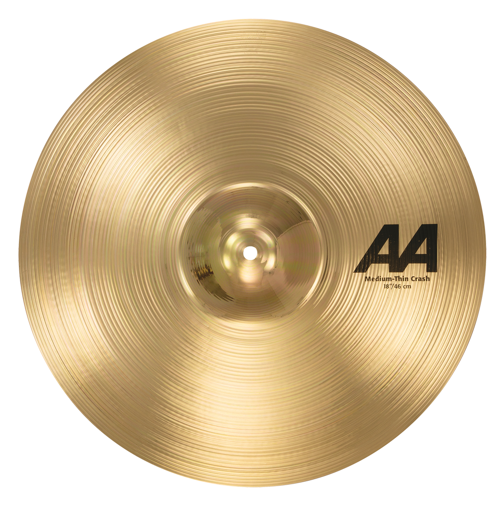 "Sabian 18"" AA Medium Thin Crash Cymbal Brilliant Finish - 21807B"