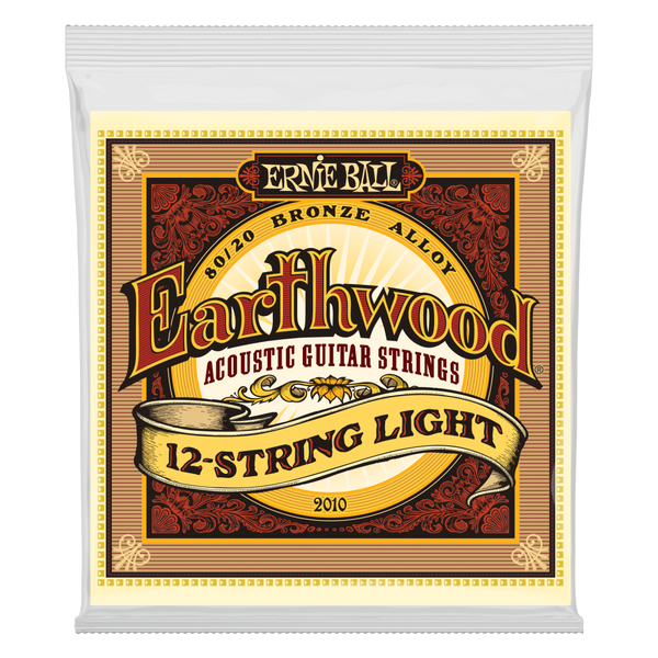 Ernie Ball 2010EB Earthwood 12 String Acoustic Strings - Guitar Light 009-046