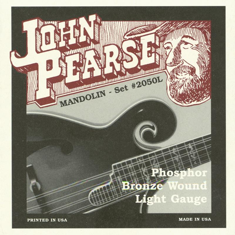 John Pearse 2050L Light Phosphor BronzeLoop End Mandolin Strings 010-036