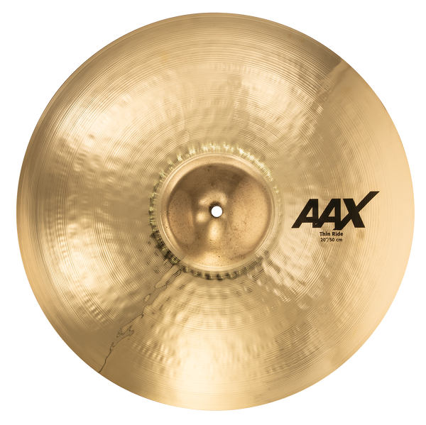 "Sabian 22010XCB 20"" AAX Thin Ride Cymbal Brilliant Finish"