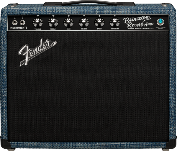 Fender FSR 65 Princeton Reverb Tube Guitar Amplifier in Chilewich Denim Black with Celestion Blue Alnico - 2172000642