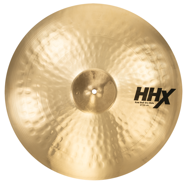 "Sabian 21"" HHX Raw Bell Dry Ride Cymbal Brilliant Finish - 12172XB"