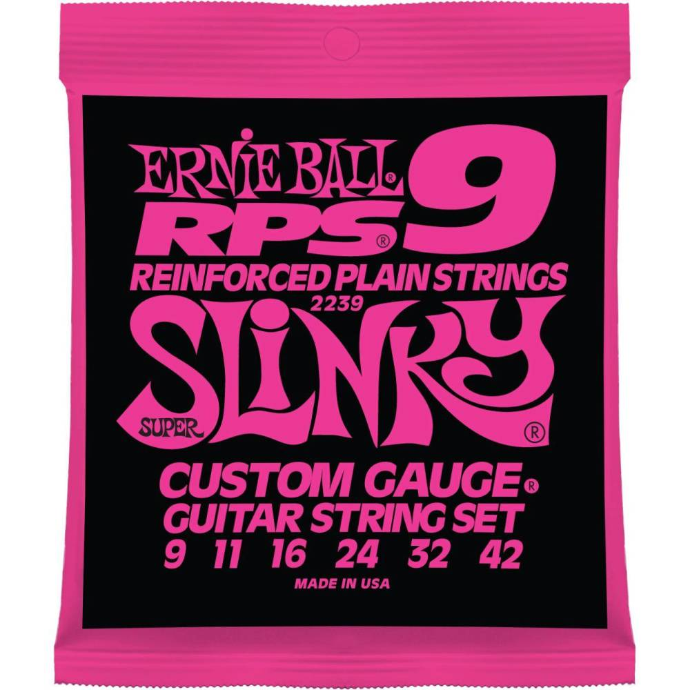 Ernie Ball 2239 Super Slinky Reinforced Electric Strings - Guitar 009-042