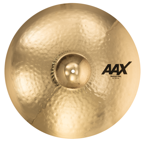 "Sabian 22"" AAX Medium Ride Cymbal Brilliant Finish - 22212XCB"