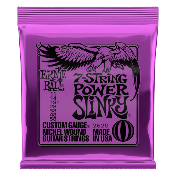 Ernie Ball 2620 7 String Power Slinky Electric Strings - Guitar 011-058