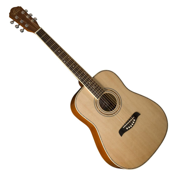 Oscar Schmidt OG1LH 3/4 Size Left Handed Acoustic Guitar in Natural