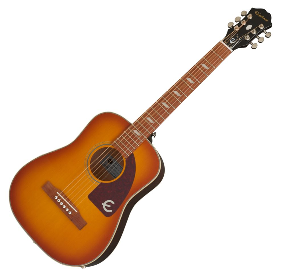 Epiphone Lil Tex Travel Acoustic Electric in Natural with Bag - EELTFCNH