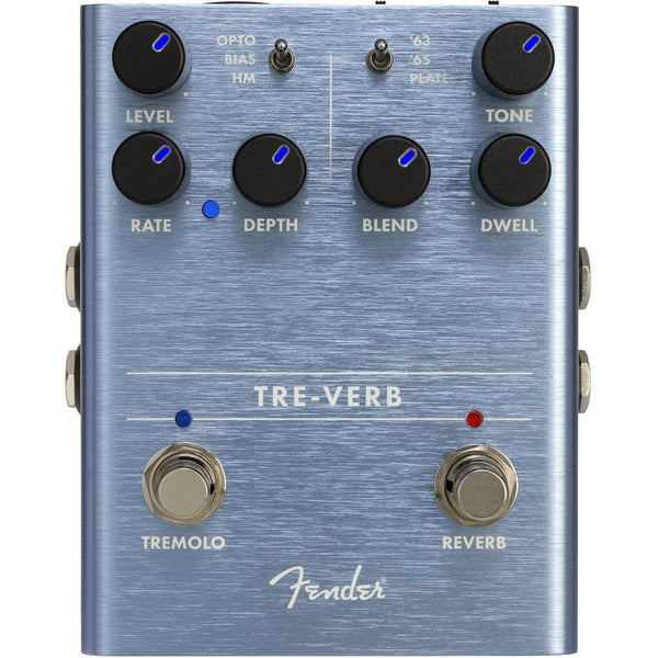 Fender Tre-Verb Tremolo Reverb Effects Pedal - 234541000