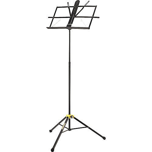 Hercules BS100B Heavy Duty Compact Sheet Music Stand Blk