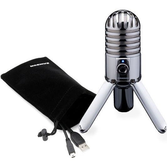Samson METEOR Desktop USB Condenser Microphone with Headphone Out