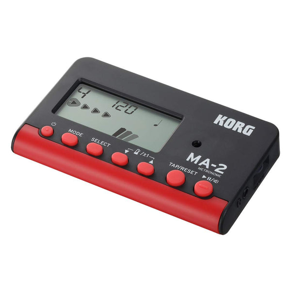 KORG MA2BKRD Digital LCD Metronome in Black and Red