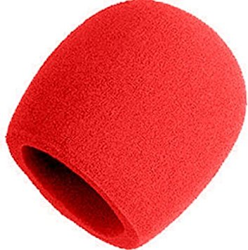 Yorkville IWS1R Microphone Windsock in Red