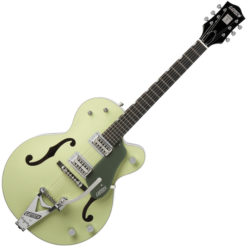 Gretsch Vintage Select Electric Guitar '60 Anniversary Hollow Body Bigsby in 2-Tone Smoke Green w/Case - G6118T-60