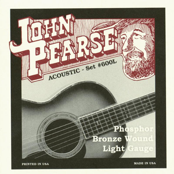John Pearse 600L Light PB Acoustic Strings - Guitar 012-053