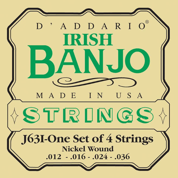 D'addario Tenor (Irish) Banjo Strings - J63I