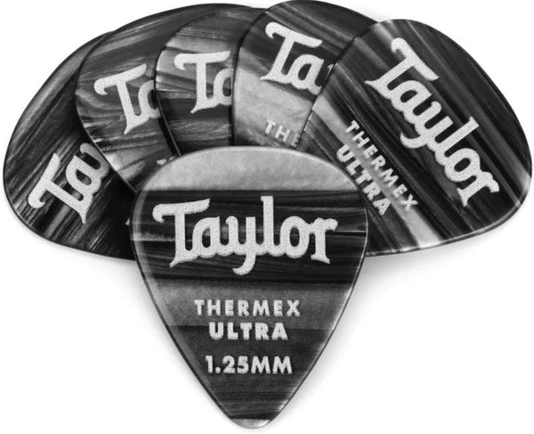 Taylor 80717 Premium Darktone 351 Thermex UItra Picks Black Onyx 1.25mm  - 6 pack