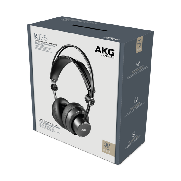 AKG On-Ear Closed-Back Foldable Studio Headphones - K175
